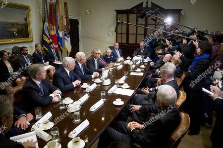 Editorial image of Barack Obama discusses Trans-Pacific Partnership, Washington DC, America - 13 Nov 2015