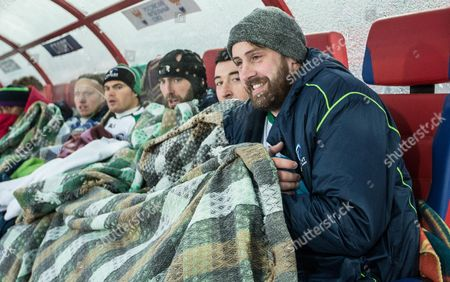 Connacht's Shane Delahunt, Ian Porter, John Muldoon, Denis Buckley and Aly Muldowney look on in the closing stages