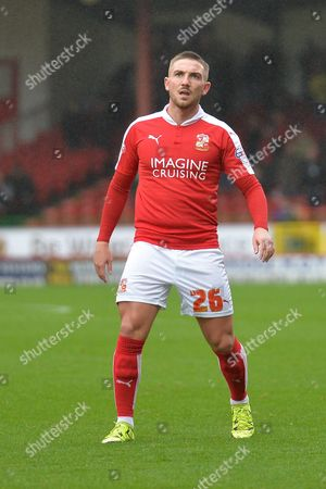 Swindon Town midfielder Anton Rodgers during the Sky Bet League 1 match between Swindon Town and Scunthorpe United at the County Ground, Swindon