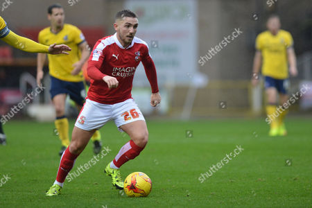 Swindon Town midfielder Anton Rodgers on the attack during the Sky Bet League 1 match between Swindon Town and Scunthorpe United at the County Ground, Swindon