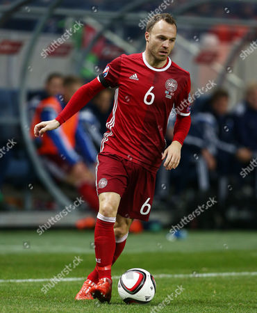 Lars Jacobsen of Denmark during the UEFA EURO Qualifiers First playoff round match between Sweden and Denmark played at the Friends Arena, Stockholm on November 14th 2015
