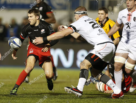 Saracens' Richard Wigglesworth and Imanol Harinordoquy of Toulouse during the European Rugby Champions Cup Pool 1 match between Saracens and Toulouse played at Allianz Park Stadium, Barnet, on November 14th 2015