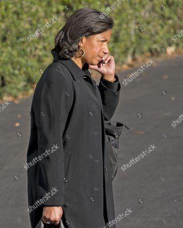 National Security Advisor Susan Rice speaks on the phone