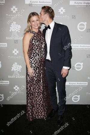 Stock Photo of Jessica Capshaw and Christopher Gavigan