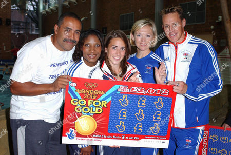 Daley Thompson, Denise Lewis, Emily Pidgeon, Shirley Robertson and Danny Crates