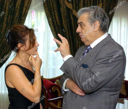 Andrea Rost and Placido Domingo