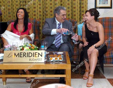 Erika Miklosa, Placido Domingo and Andrea Rost