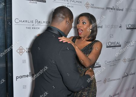 Stock Picture of Ted Gibson, Omarosa Manigault