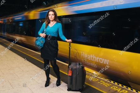Sarah Willingham on the Heathrow Express