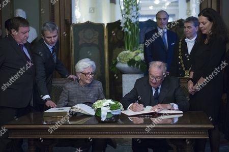 Queen Paola, King Albert II, Siegried Bracke, Christine Defraigne