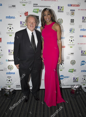 Gordon Taylor and Diane Modahl arrive at the North West Football Awards held at Emirates Old Trafford Cricket Ground on November 16th 2015