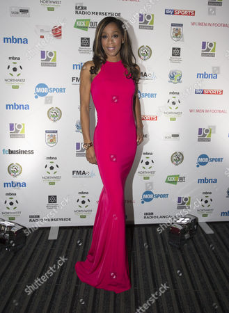 Diane Modahl arrives at the North West Football Awards held at Emirates Old Trafford Cricket Ground on November 16th 2015