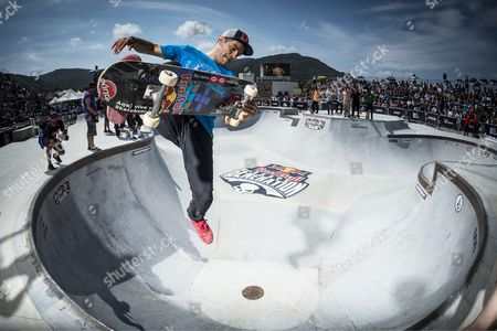Sandro Dias performs during Red Bull Skate Generation in Florianopolis, Brazil
