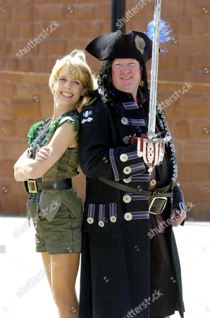 Sophie Lawrence as Peter Pan and Steve McFadden as Captain Hook