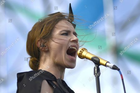 Lead singer Nina Persson from the Swedish rock band, The Cardigans.