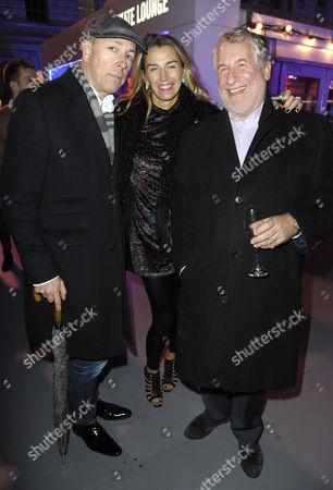 Stock Picture of Dylan Jones, Assia Webster and Simon Kelner