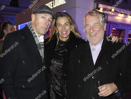 Stock Image of Dylan Jones, Assia Webster and Simon Kelner