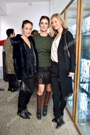 Daniela Agnelli, Francesca Amfitheatrof and Elizabeth von Guttman