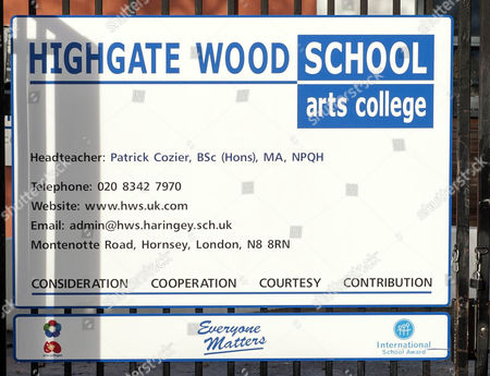 Editorial photo of Highgate Wood School London N8 Where Teachers Have Been Striking In Support For Activist Julie Davis.