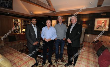 Karun Chandhok Sir Jackie Stewart Damon Hill And John Watson. Daily Mail Writer Jon Mcevoy At Sir Jackie Stewart's - Interview Special.