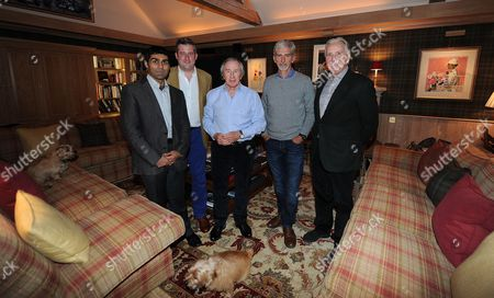 Karun Chandhok Jon Mcevoy Sir Jackie Stewart Damon Hill And John Watson Daily Mail Writer Jon Mcevoy Round Table At Sir Jackie Stewart's - Interview Special.