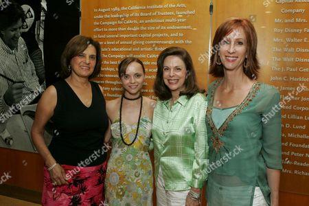 Stock Picture of Susan Dolgen, Christina Ricci, Wendy Goldberg & Jamie McGurk