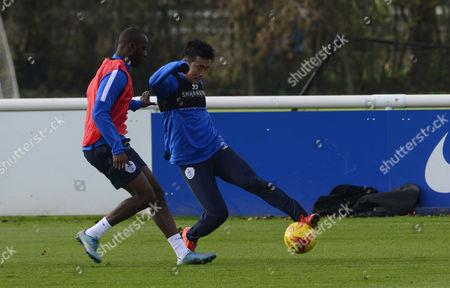 Yun Suk-Young and Samba Diakite of QPR