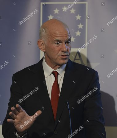Editorial photo of 'A New Vision for Europe and Greece: The Only Way Forward' talk at the  Institute of International and European Affairs, Dublin, Ireland  - 18 Nov 2015