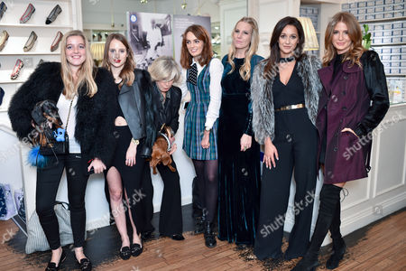 Charlotte Beecham, Rosie Fortescue, Jane Winkworth, Lady Violet Manners, Alice Naylor-Leyland, Roxie Nafousi and Millie Mackintosh