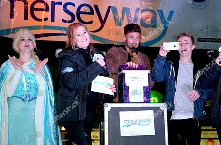 Editorial image of Stockport Merseyway Christmas Lights switch-on, Manchester, Britain - 18 Nov 2015