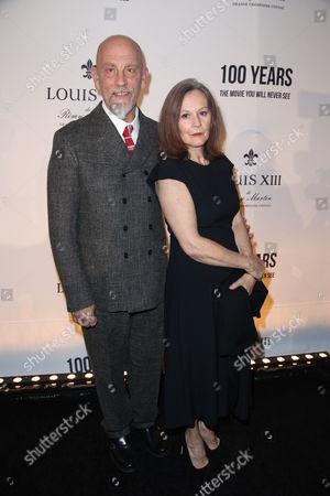 Stock Photo of John Malkovich and Nicoletta Peyran