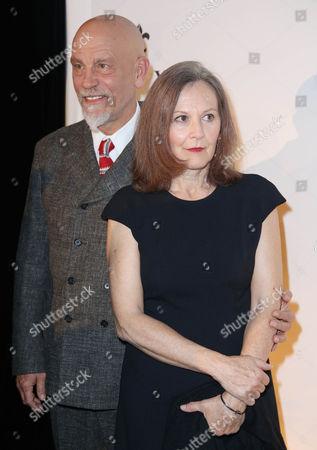 John Malkovich and wife Nicoletta Peyran