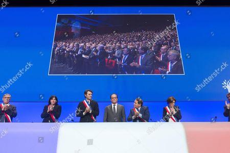 Anne Hidalgo, Francois Baroin, Francois Hollande, Andre Laignel