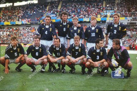 Football - 1992 European Championships - Group Two: Netherlands 1 Scotland 0 Scotland team group before kick-off at the Ullevi, Gothenburg, Sweden, on . Back (l-r): Maurice Malpas, Dave McPherson, Stewart McKimmie, Stuart McCall, Richard Gough. Front: Ally McCoist, Brian McClair, Gary McAllister, Gordon Durie, Paul McStay, Andy Gorman.