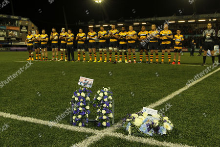 European Rugby Challenge Cup Players of Cardiff Blues pay their respect to Jonah Lomu