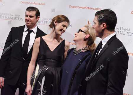 Matthew Reeve, Alexandra Reeve Givens, Meryl Streep, and William Reeve