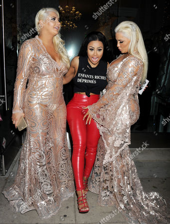 Stock Picture of Kristina Shannon, Blac Chyna and Karissa Shannon