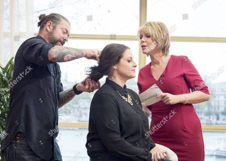 Lee Stafford (weatherproofing your hair item) and Ruth Langsford