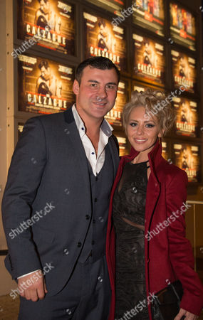 Joe Calzaghe and his girlfriend Lucy Griffiths