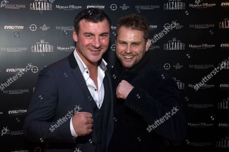 Joe Calzaghe with producer and director Vaughan Sivell