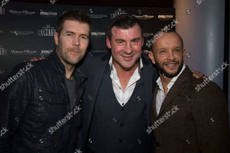 Rhod Gilbert, Joe Calzaghe and Jamie Baulch