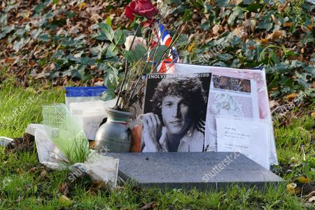 Editorial image of The graves of Robin and Andy Gibb at St Marys Churchyard, Thame, Oxfordshire, Britain - 21 Nov 2015