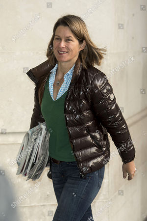 JP Morgan economist Stephanie Flanders arrives at the BBC Broadcasting House for the Andrew Marr Show.