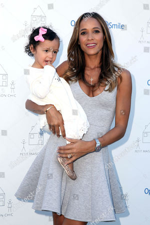 Dania Ramirez with daughter Gaia Jissel Ramirez Land