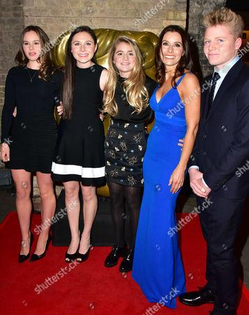 Tana Ramsay (in blue) and children Mathilda Elizabeth Ramsay, Megan Ramsay, Holly Ramsay, Jack Ramsay