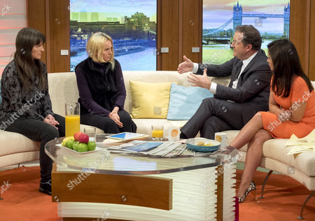 Helen Steel and Kate Wilson with Piers Morgan, Susanna Reid