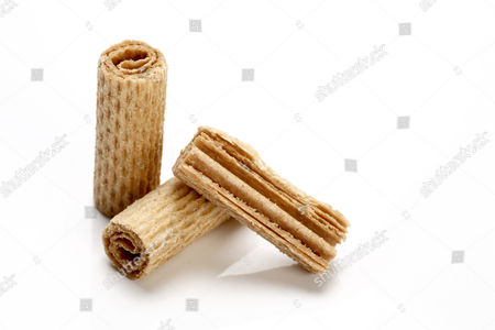 Rolled wafer biscuits