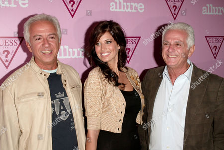 Paul Marciano, Bree Conden and Maurice Marciano