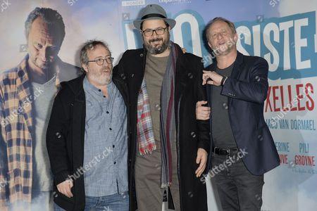Director Jaco Van Dormael, Benoit Poelvoorde, Andrea Romeo and guest
