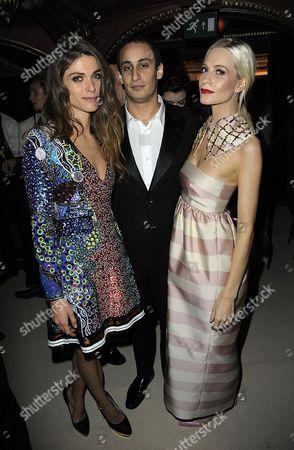 Stock Picture of Elisa Sednaoui, Alex Dellal and Poppy Delevingne